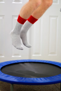 Mini Trampoline Jumping cancer exercise training institute