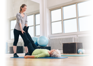 trainer and senior client cancer exercise training institute